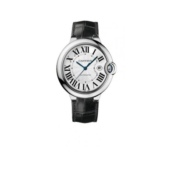 Cartier Ballon Bleu Polished 18K White Gold Mens W