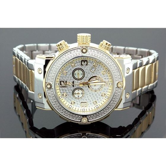 Aqua Master Mens Diamond Two Tone Watch  28059 1