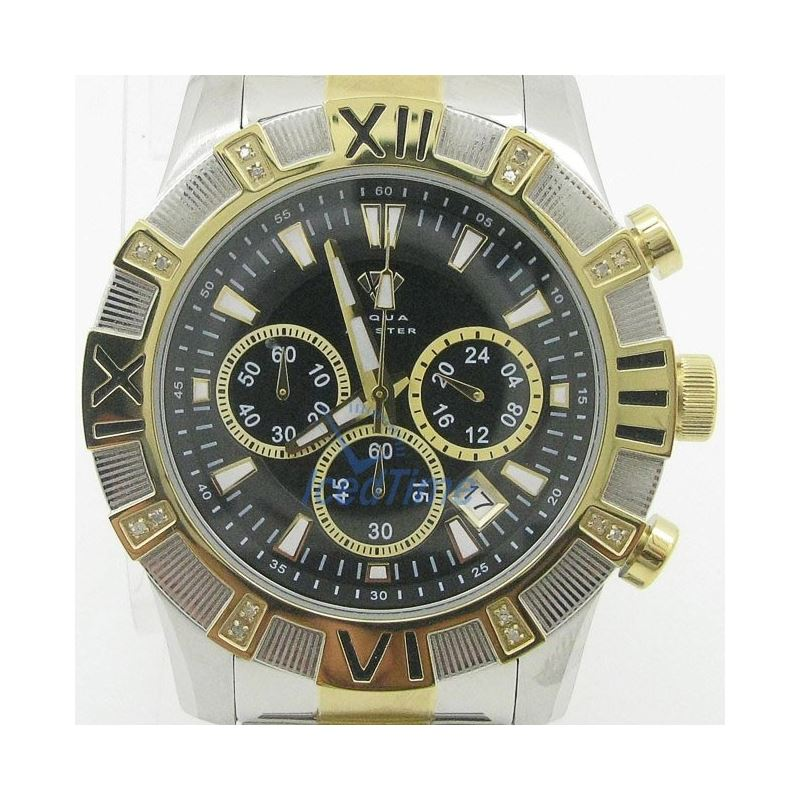 Mens Aqua Master Iced Out Diamond Watch  50601 1