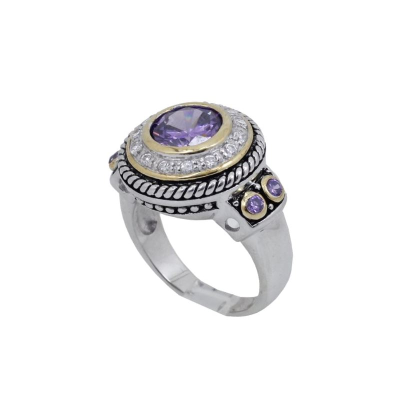 Ladies .925 Italian Sterling Silver Purp 73904 1