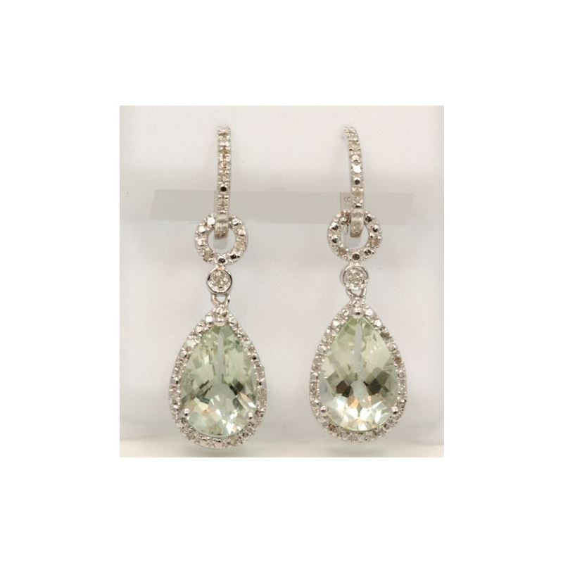 Sterling Silver Gemstone European Drop Earrings TR