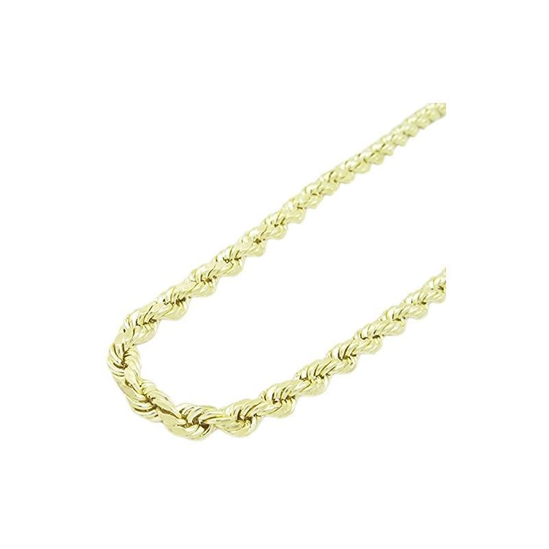 Mens 10k Yellow Gold rope chain ELNC11 2 77845 1