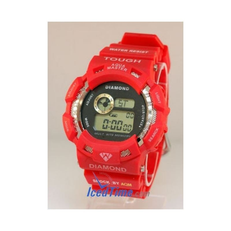 Aqua Master Shock Red Diamond Watch