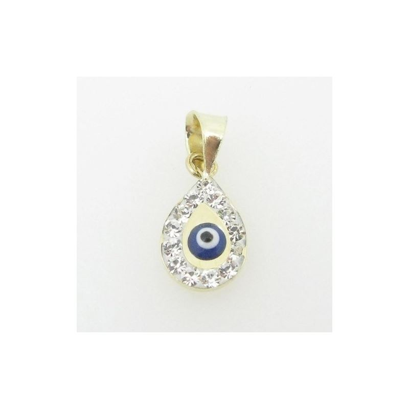 Womens BP114 Kabbalah Evil Eye 14K Solid Yellow Go