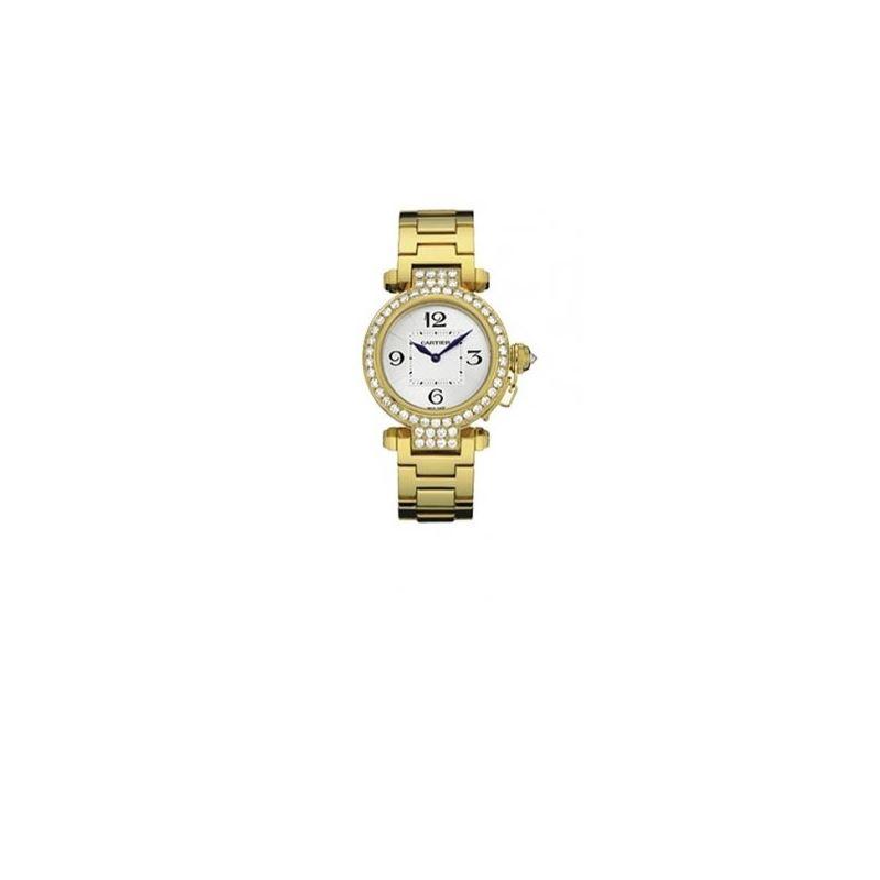 Cartier Pasha Diamond 18kt Yellow Gold L 55265 1