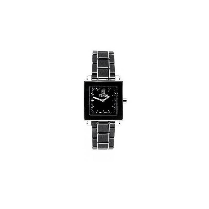 FENDI F621210 Ceramic Quadro Ladies Watch