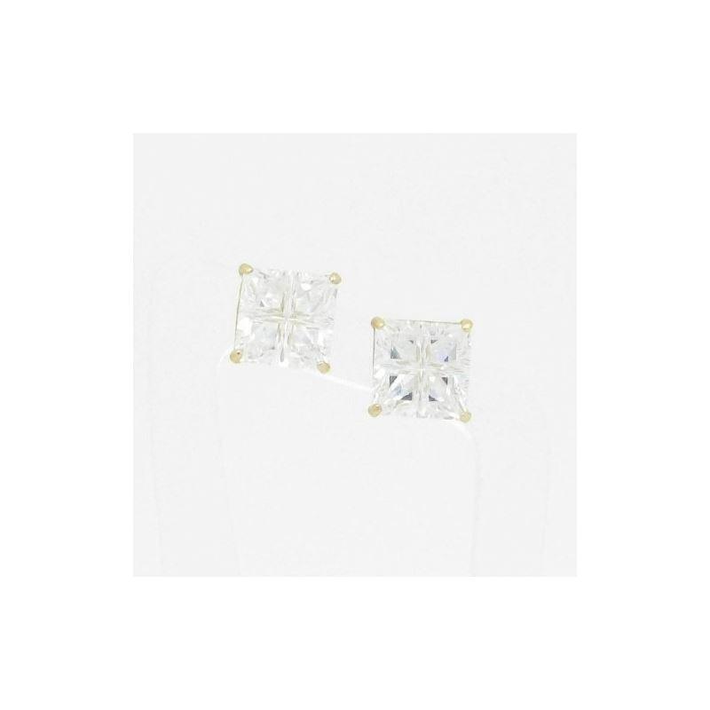Unisex 14K solid gold earrings fancy stu 82406 1
