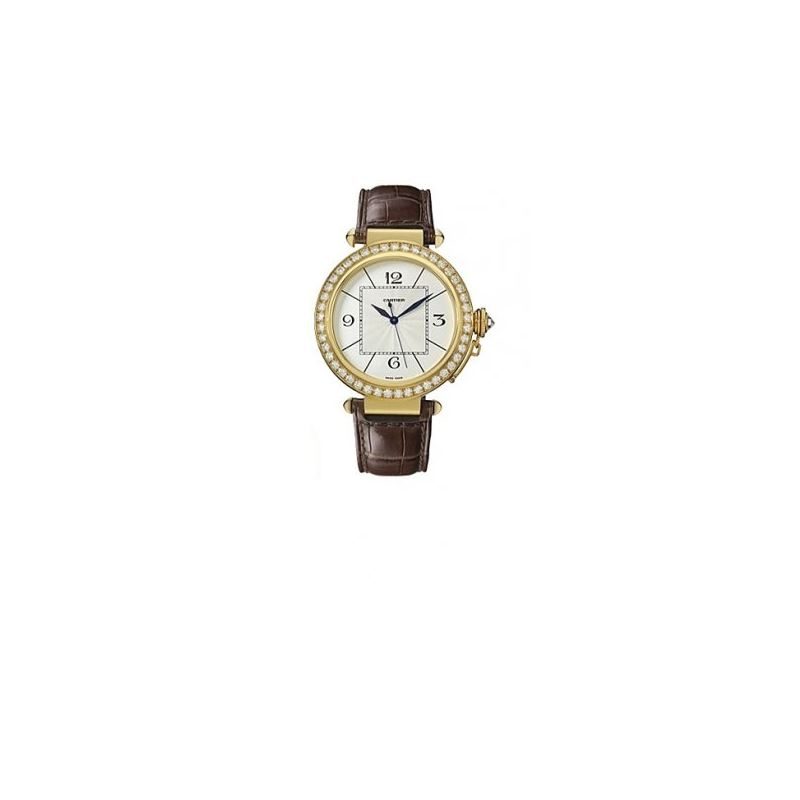 Cartier Pasha Diamond 18kt Yellow Gold Mens Watch