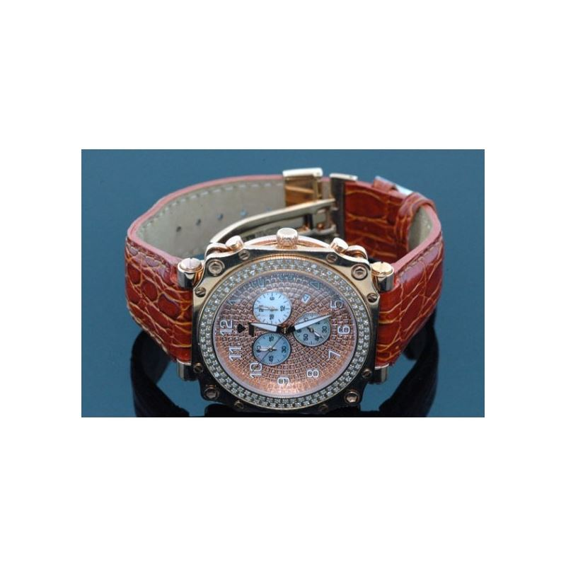 Aqua Master Mens Rose Gold Mens Diamond Watch