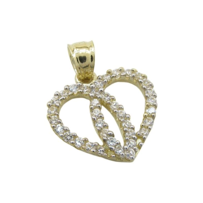 Womens 10k Yellow gold Dual heart join c 83557 1