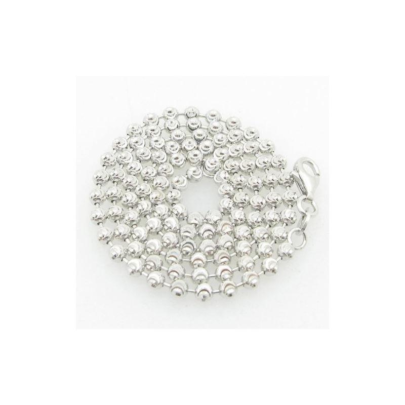 Ladies .925 Italian Sterling Silver Moon Cut Link