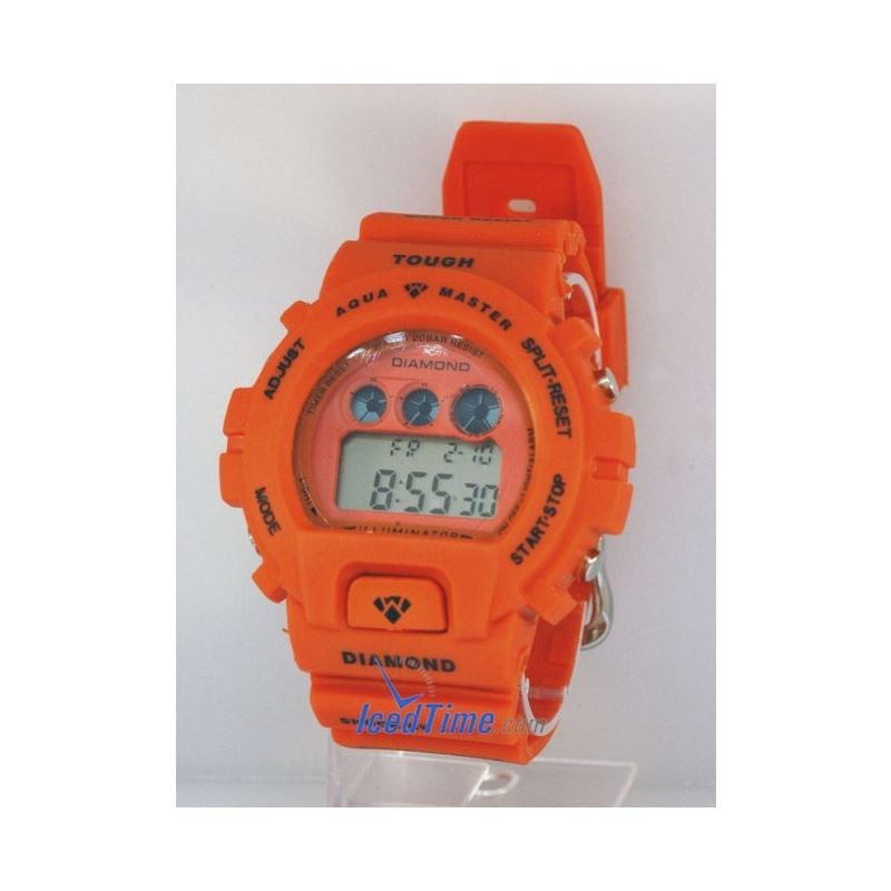 Aqua Master Shock Digital Watch Orange