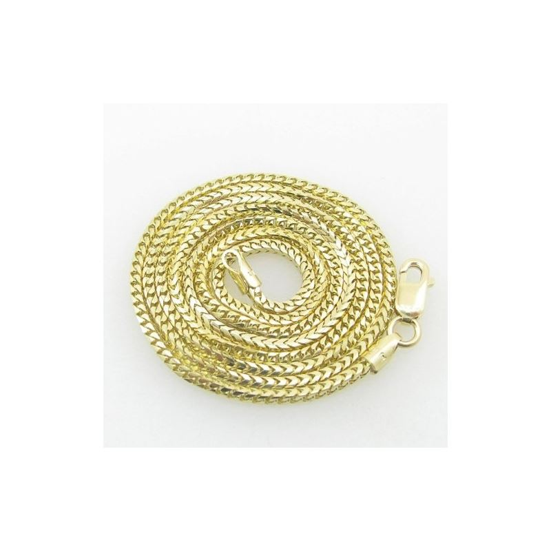 Mens Yellow-Gold Franco Link Chain Length - 18 inc