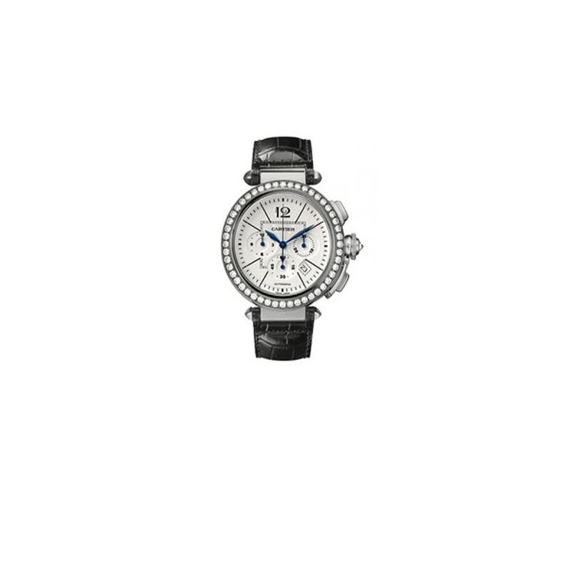 Cartier Pasha Diamond 18kt White Gold Me 55275 1