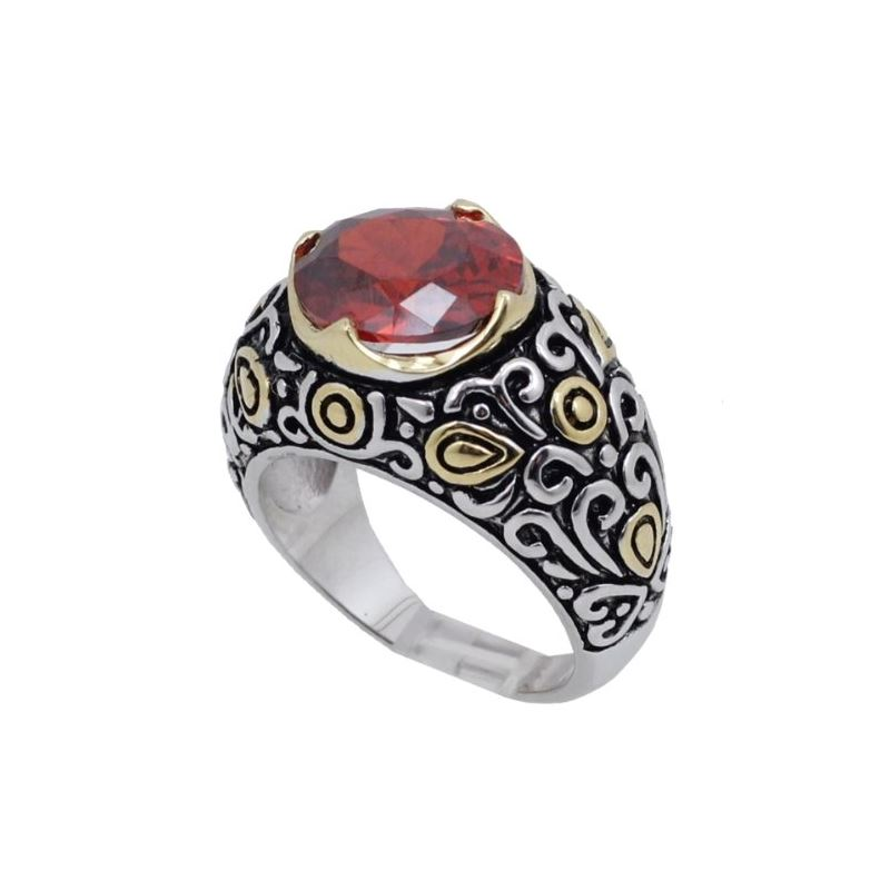 Ladies .925 Italian Sterling Silver Ruby 74169 1