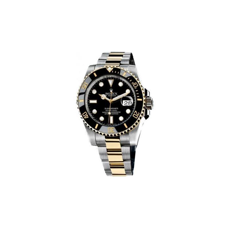 Rolex Black Submariner Oyster Bracelet Mens Watch