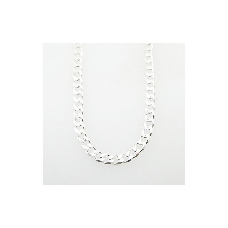 Silver Curb Link Chain Necklace Bdc67