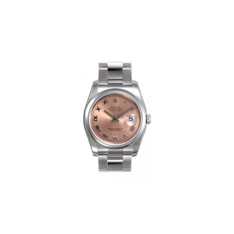 Rolex Datejust Pink Roman Dial Oyster Bracelet Men