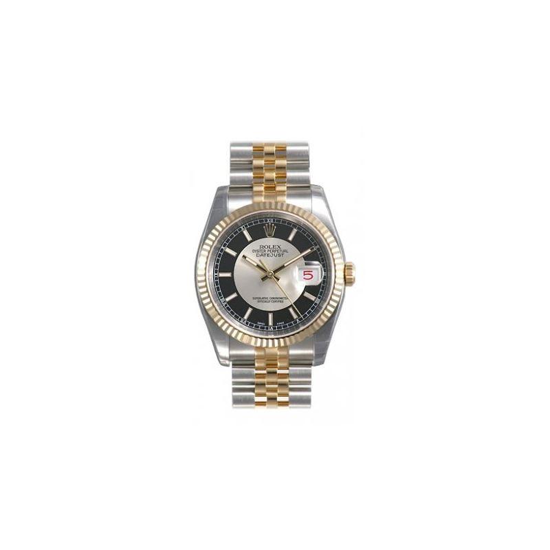 Rolex Datejust Black Index Dial Jubilee Bracelet F