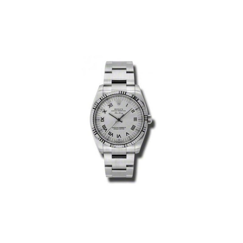 Rolex Watches  AirKing White Gold Fluted 54043 1