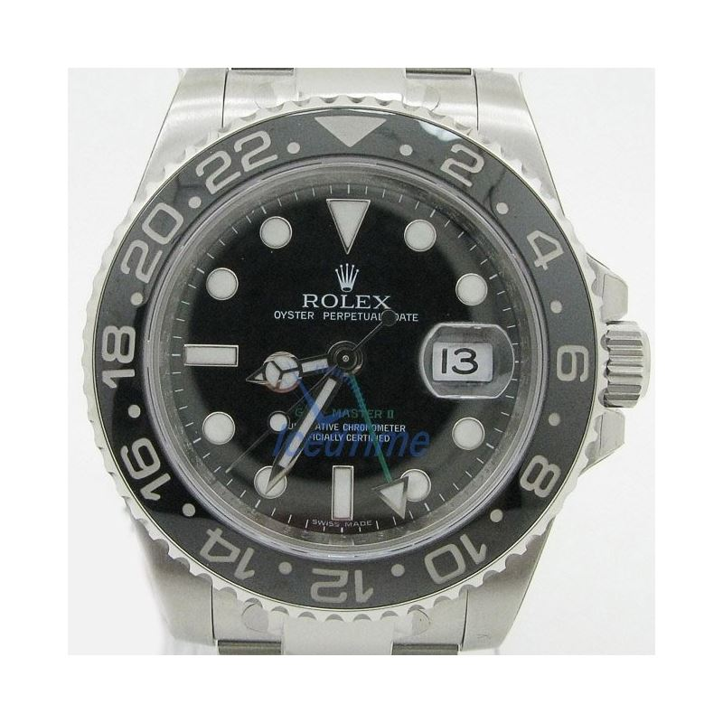Rolex GMT Master II Black Index Dial Oyster Bracel