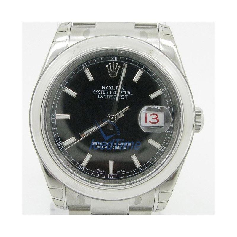 Rolex Datejust Black Index Dial Oyster Bracelet Me