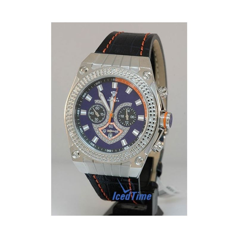 Aqua Master Mens Diamond Watch - AQSM1505