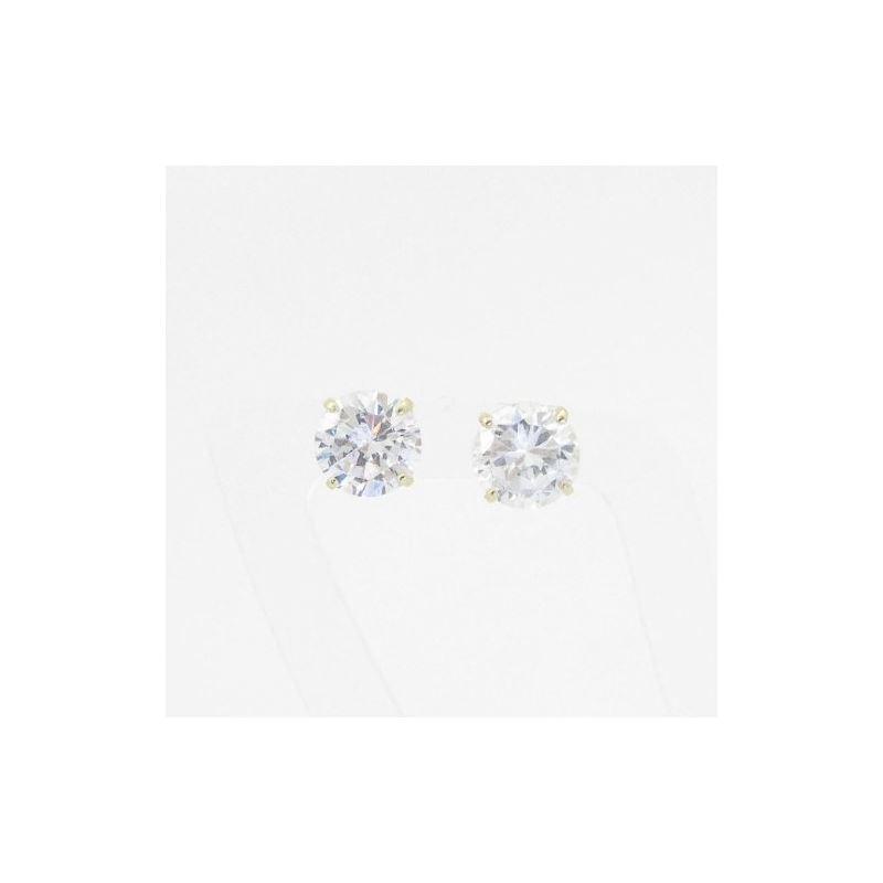 Unisex 14K solid gold earrings fancy stu 81239 1