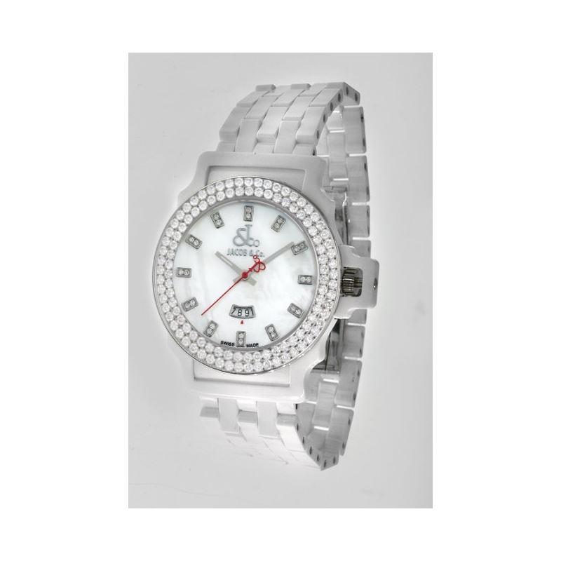 Jacob  Co Ceramic Unisex Diamond Watch JCS14