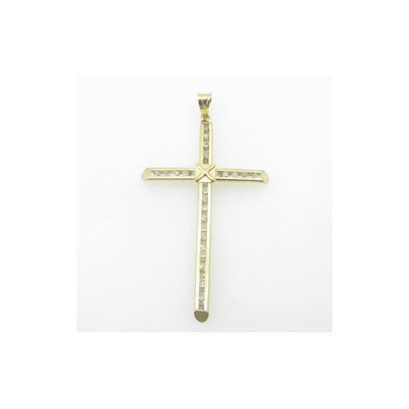Mens 10K Solid Yellow Gold x cross Length - 2.83 i