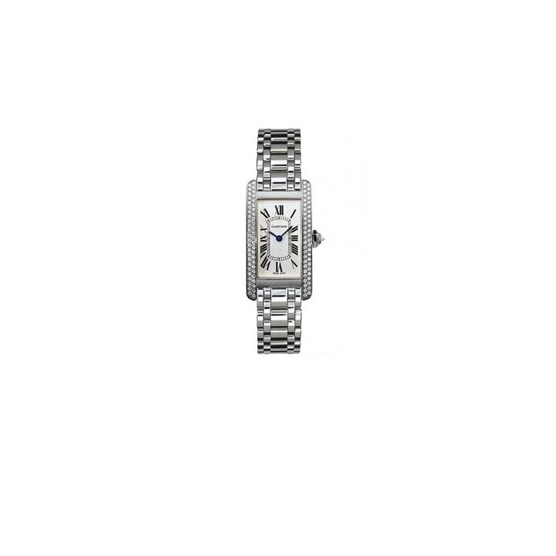 Cartier Tank American 18kt White Gold Diamond Ladi