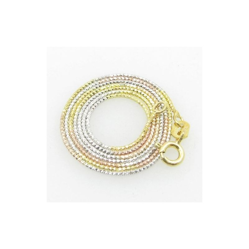 Ladies .925 Italian Sterling Silver Tri Color Snak