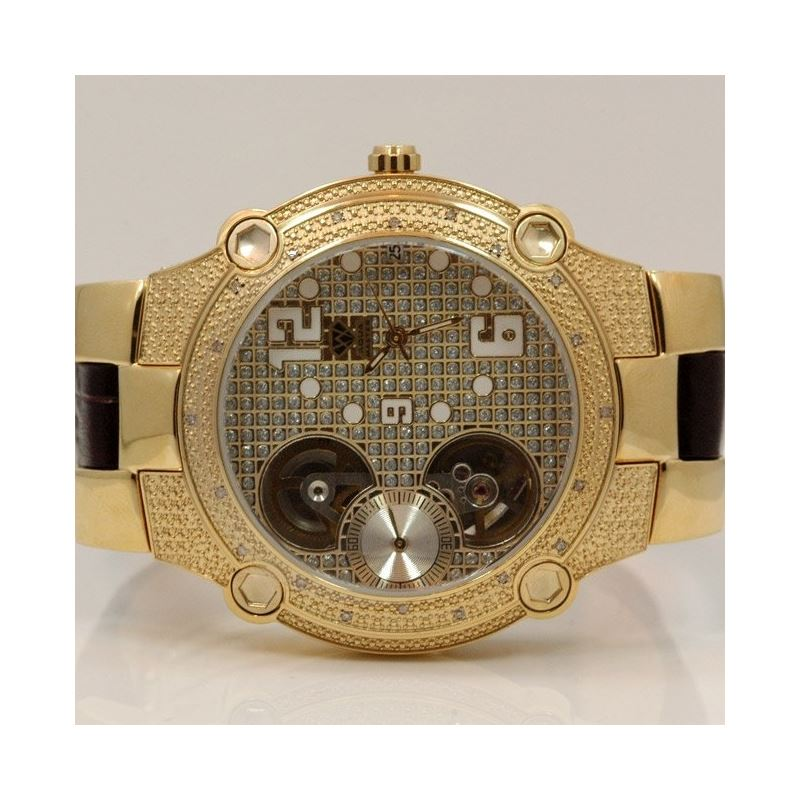 Aqua Master Mens Automatic Diamond Watch 0.20ctw W