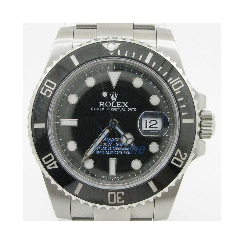 Rolex Submariner Black Dial Ceramic Bezel Steel Me