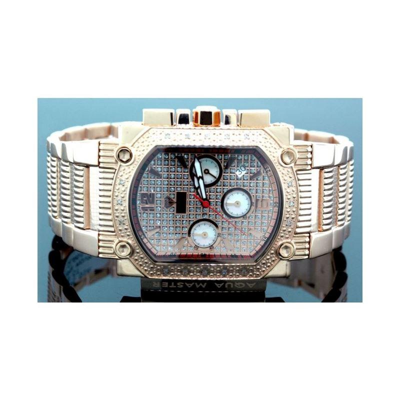 Agua Master 0.16ctw Mens Diamond Watch w323QQ