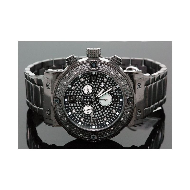 Aqua Master Mens Diamond Watch 0.20ct w-146a