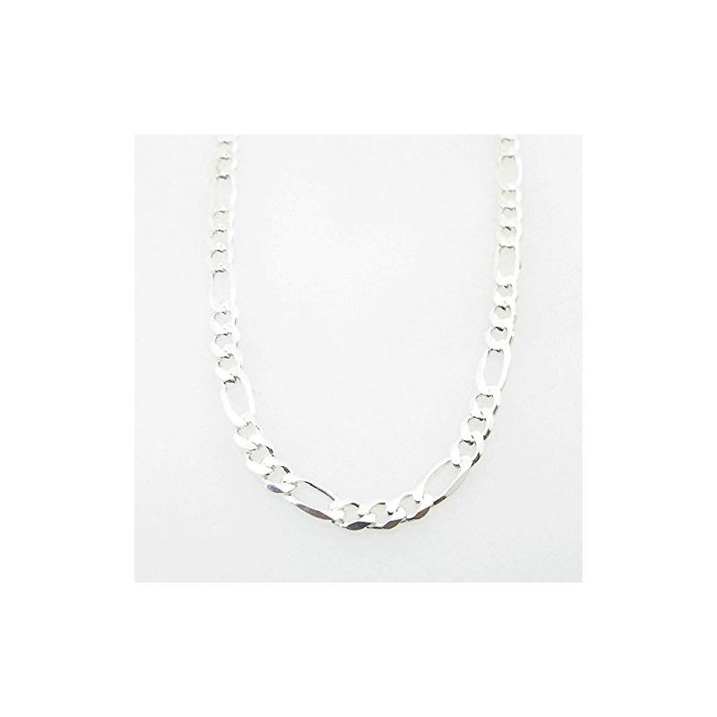 Silver Figaro Link Chain Necklace Bdc83