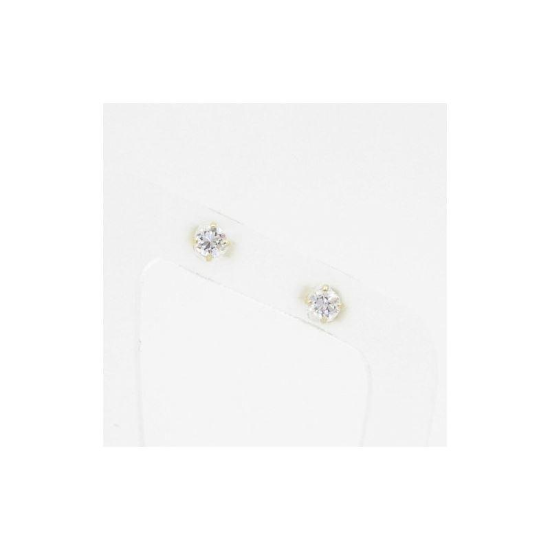 Unisex 14K gold fancy stud ball earrings