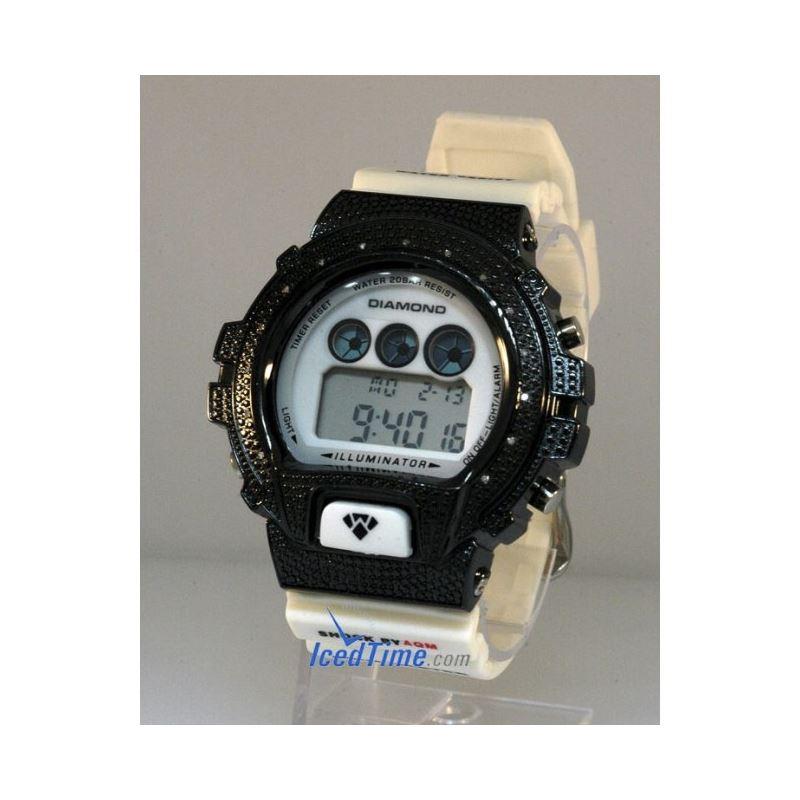 Aqua Master Shock Diamond Mens Black Watch gd2