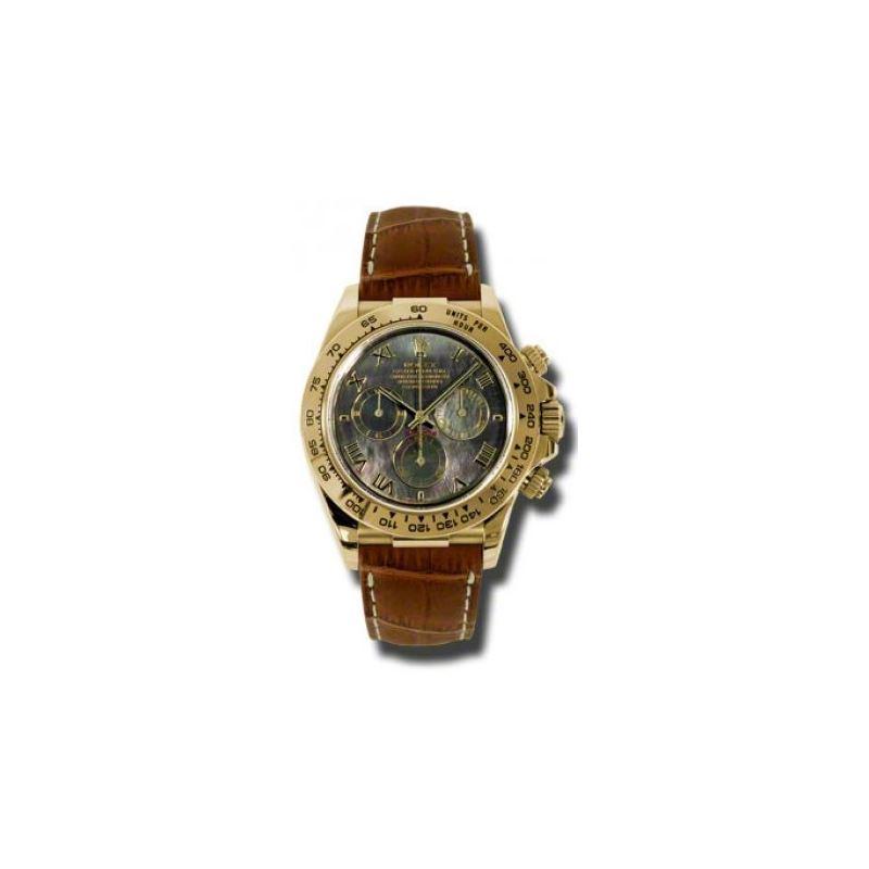 Rolex Watches  Daytona Yellow Gold  Leat 54179 1