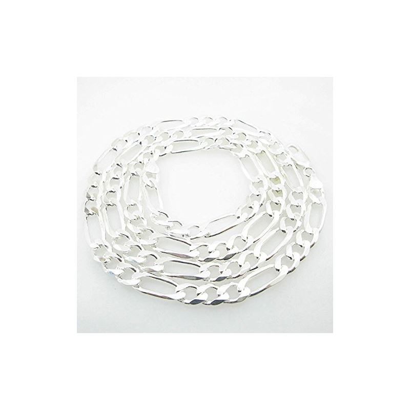 Silver Figaro link chain Necklace BDC79 79667 1