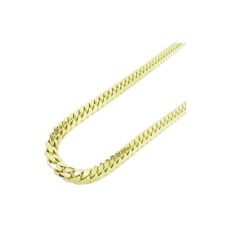 "Mens 10k Yellow Gold miami link chain 24"" 5MM LAGC"