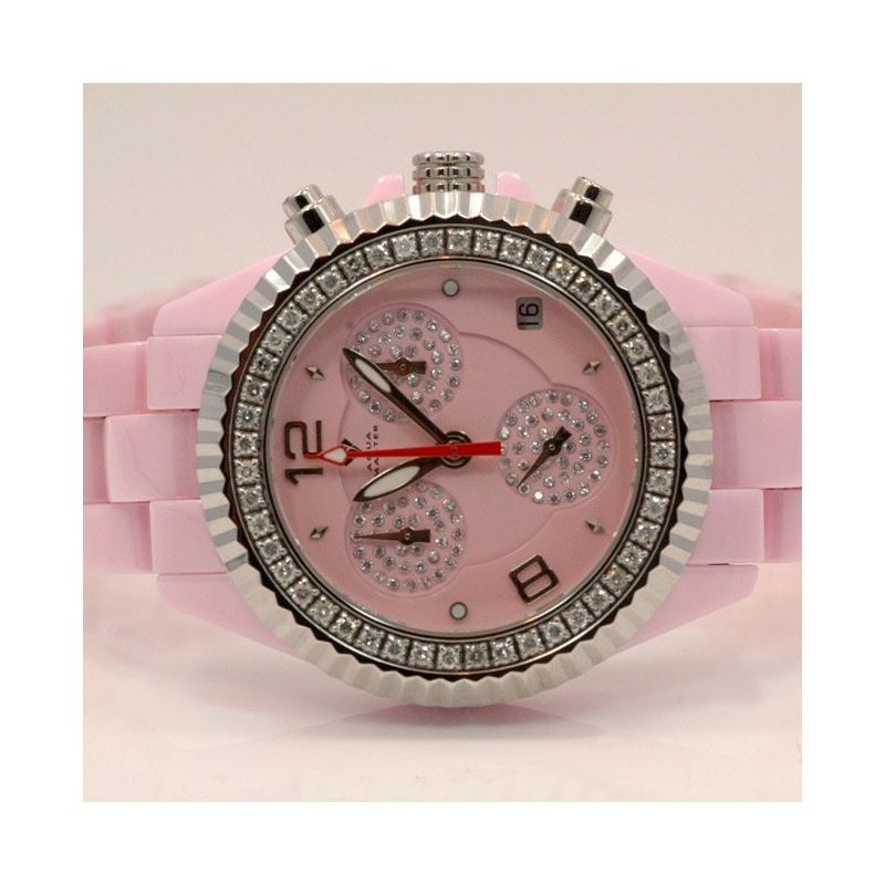 Aqua Master Ladies Ceramic Diamond Watch 1.25ctw W