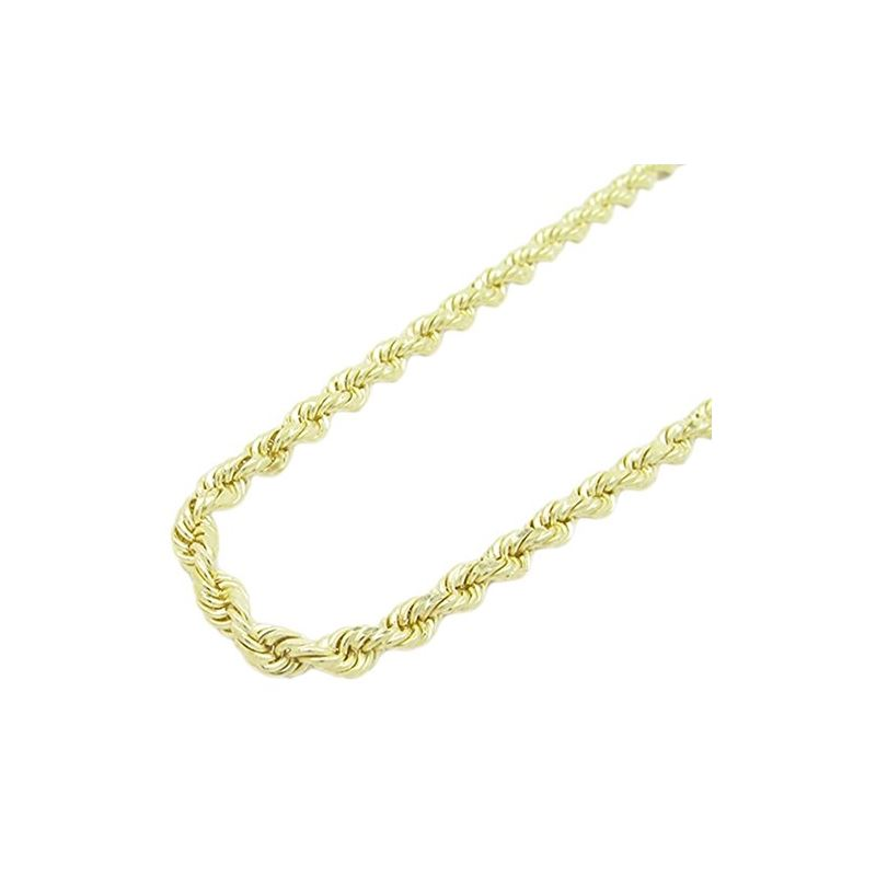 "Mens 10k Yellow Gold skinny rope chain ELNC7 20"" l"