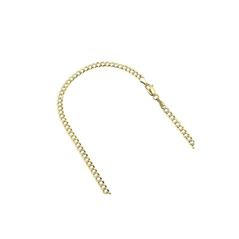 Mens Yellow-Gold Cuban Diamond Cut link  79106 1