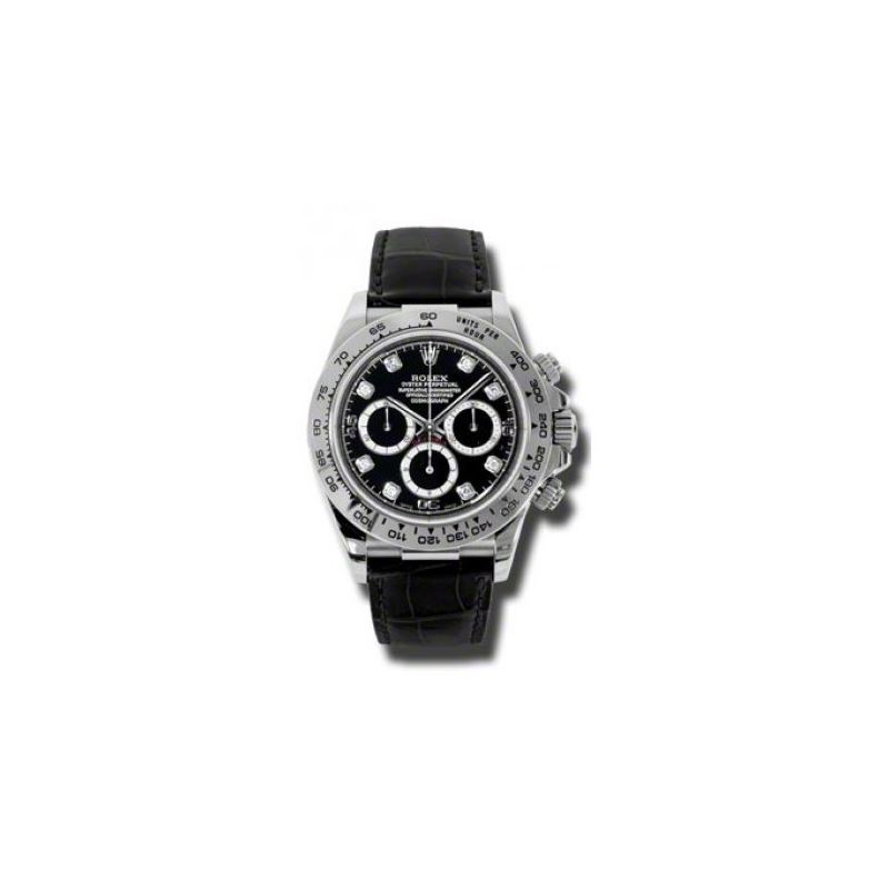 Rolex Watches  Daytona White Gold  Leather Strap 1