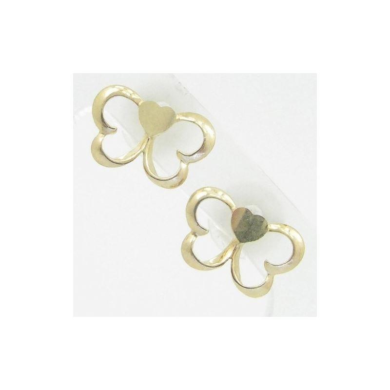 14K Gold Earrings heart star flower dolp 64218 1