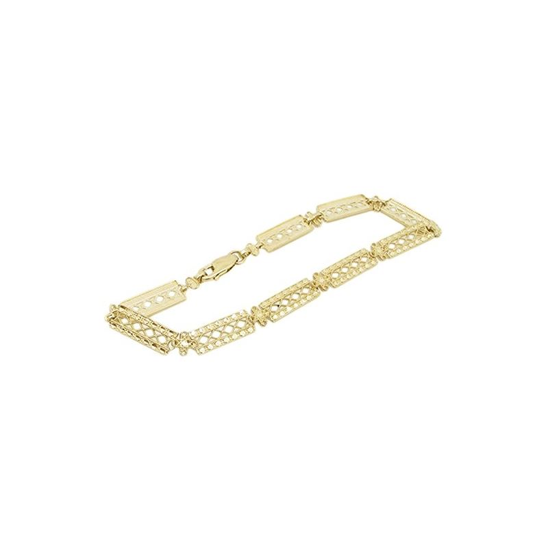 Women 10k Yellow Gold link vintage style 83035 1