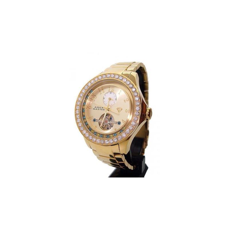 Aqua Masters 5.75ctw Yellow Gold Watch