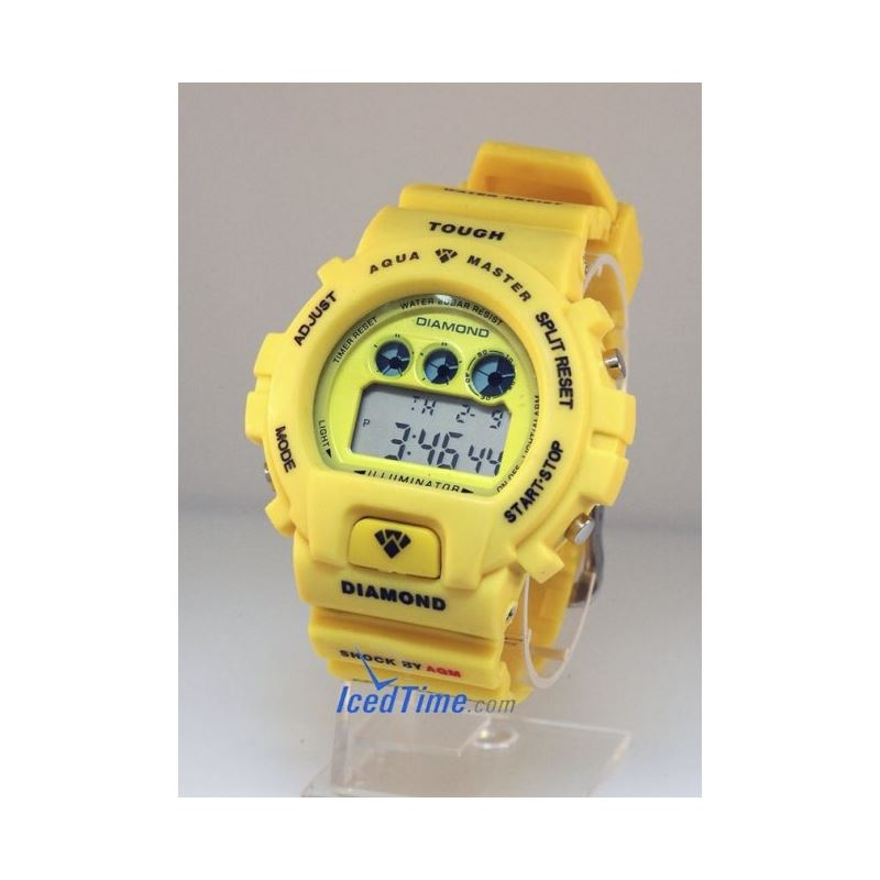 Aqua Master Shock Digital Watch Yellow 27739 1